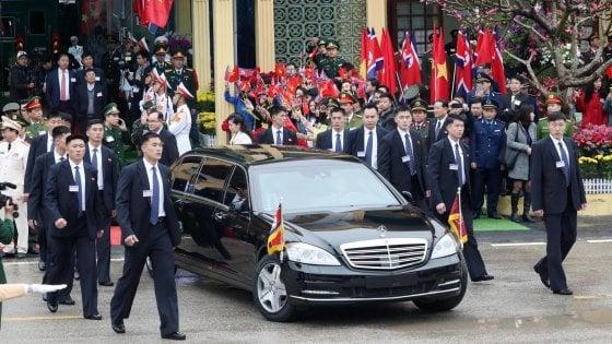 Coree: Kim Jong-un è arrivato in Vietnam per l'incontro con il presidente Usa Donald Trump