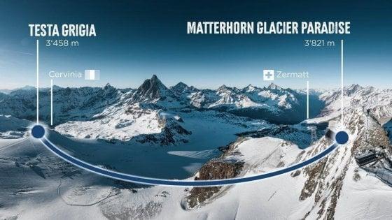Da Zermatt a Cervinia in funivia. Dal 2021 si potrà anche senza sci