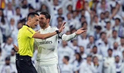 Sergio Ramos castigato dalla Uefa Ammonizione cercata, 2 turni di stop