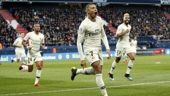 Francia, Psg: ci pensa Mbappé, Caen battuto in rimonta