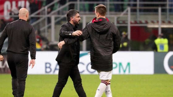 """Milan, Gattuso: """"Bene il terzo posto, ma così non basta"""""""