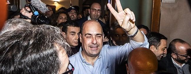 """Vince Zingaretti: """"Siamo tra il 65 e il 70%. Grazie all'Italia che non si piega a un governo pericoloso"""". Affluenza a 1 milione e 700mila"""