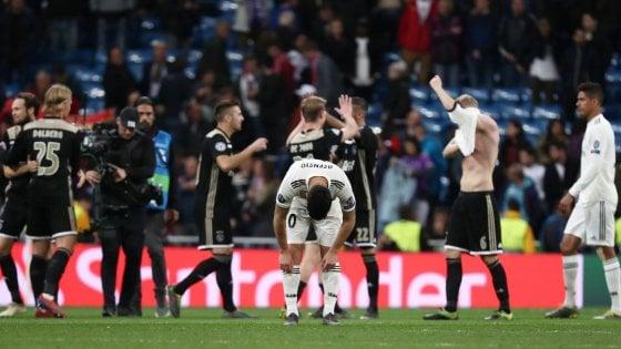 Champions, Real Madrid-Ajax 1-4: disfatta storica dei Blancos, olandesi ai quarti