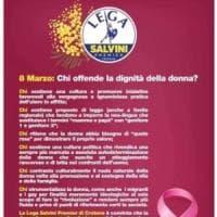 8 marzo, il volantino sessista dei giovani della Lega di Crotone. Salvini: