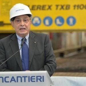 Giuseppe Bono, riconfermato come ad di Fincantieri