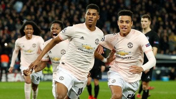 Champions, Psg-Manchester United 1-3: Rashford nel recupero firma l'impresa, altro dramma francese