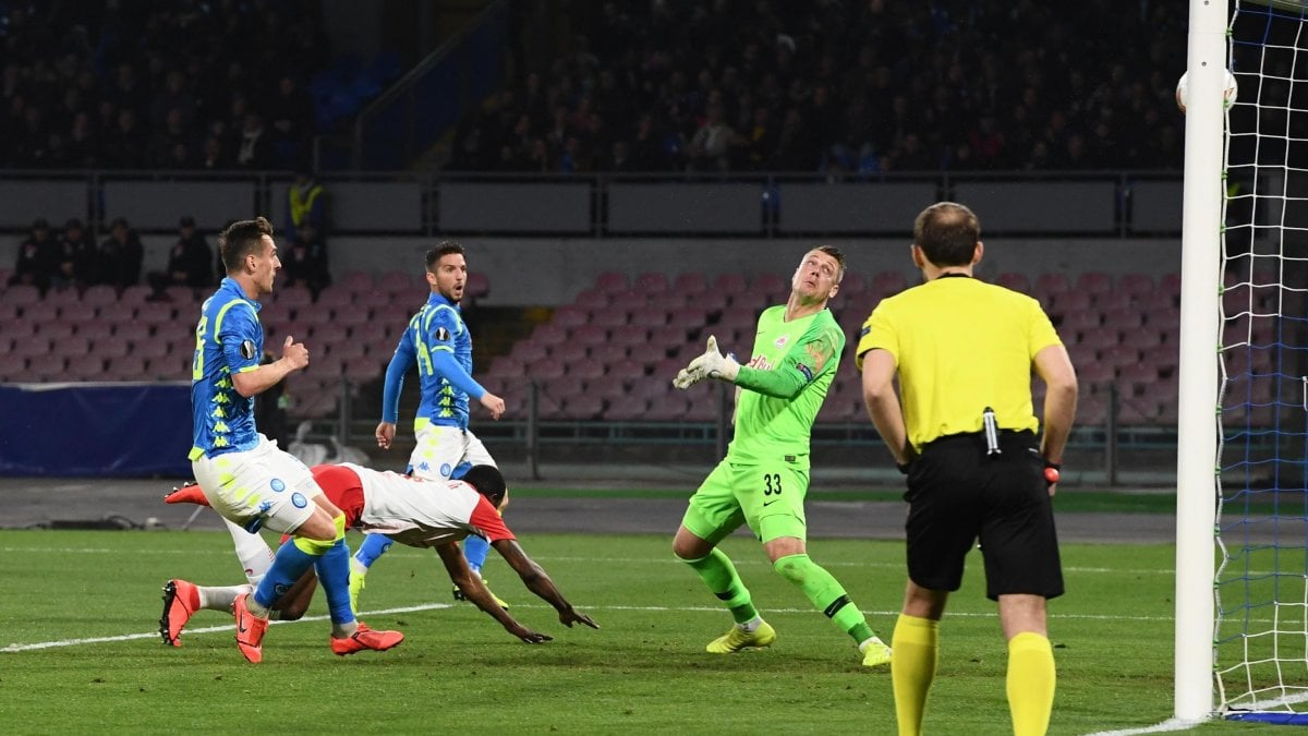 Napoli-Salisburgo 3-0, Milik E Fabian Ruiz Ipotecano I