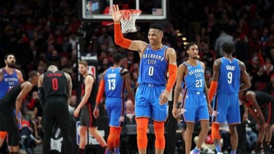 Basket, Nba: Oklahoma espugna Portland, Milwaukee torna al successo