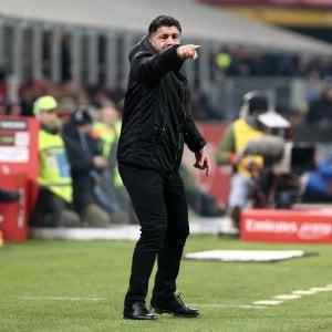"""Milan, Gattuso: """"Derby si prepara da solo, ma se sbagliamo con il Chievo ci fanno a fettine"""""""