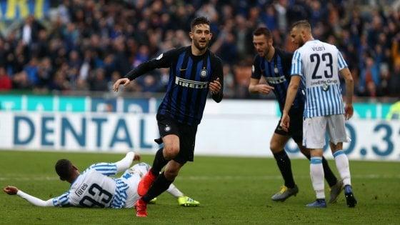 Inter-Spal 2-0, Politano e Gagliardini lanciano i nerazzurri verso il derby