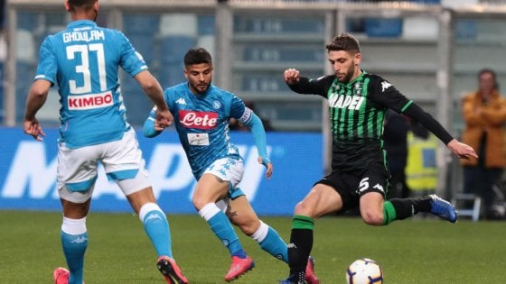 Sassuolo-Napoli 1-1: Insigne risponde a Berardi
