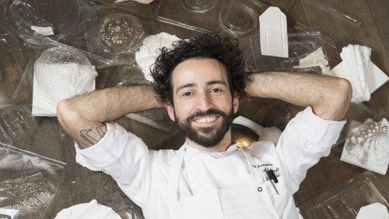 La cucina verde e millimetrica di Franco Aliberti, lo chef-scultore