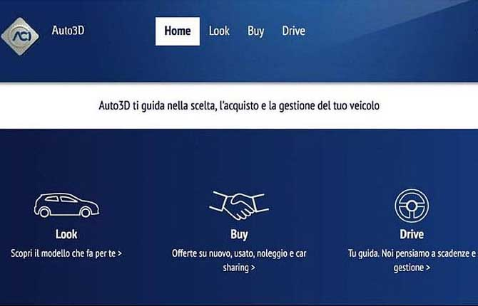 Nuova piattaforma web per gli automobilisti
