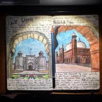 Il diario illustrato di Andrea, viaggiatore archeologo che spopola sui social