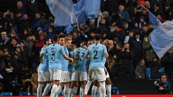 Champions, Manchester City-Schalke 7-0: un uragano travolge i tedeschi, Citizens ai quarti