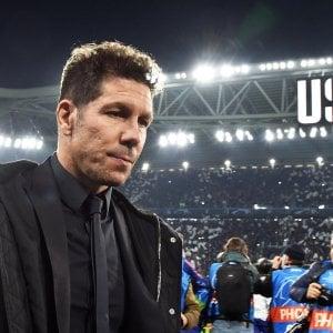 """Atletico Madrid, Simeone: """"La Juve ha meritato, non abbiamo creato nulla"""""""
