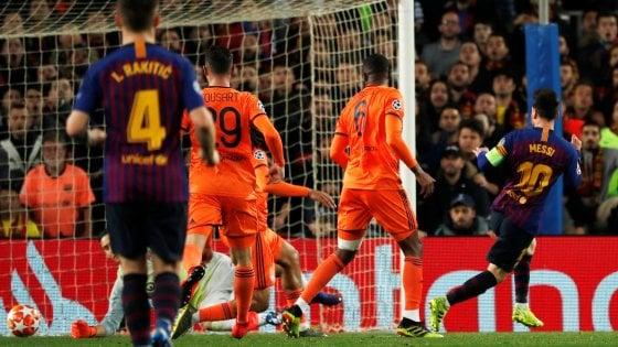 Champions, Barcellona-Lione 5-1: Messi incanta, blaugrana ai quarti