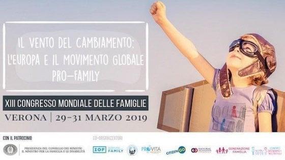 Famiglia, Palazzo Chigi avvia istruttoria su patrocinio congresso di Verona