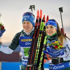 Mondiali Biathlon, Hofer-Wierer incantano,:è argento nella single mixed