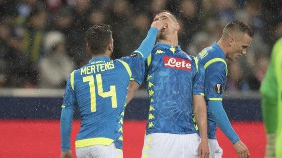 Salisburgo-Napoli 3-1, azzurri ko ma ai quarti