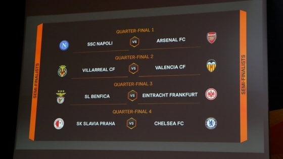 Calendario Europa League Ottavi.Europa League Sorteggio Sfortunato Per Il Napoli Quarti