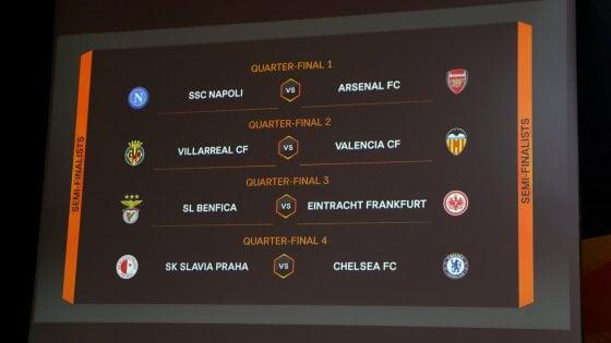 Europa League, sorteggio sfortunato per il Napoli: quarti contro l'Arsenal