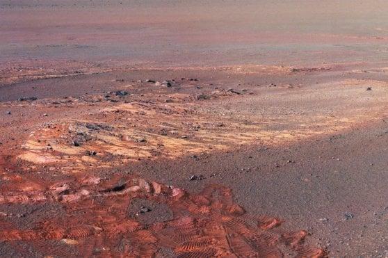 L'ultima cartolina di Opportunity, il panorama della valle dove ora riposa