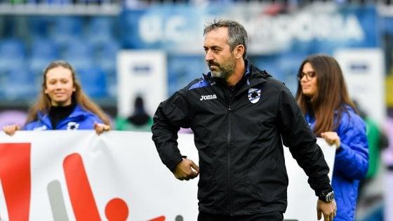 Sampdoria, Giampaolo vuole ripartire: ''Col Sassuolo test per la nostra autostima''