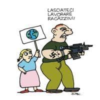Proteste per il clima e strage di Christchurch: la vignetta di Altan