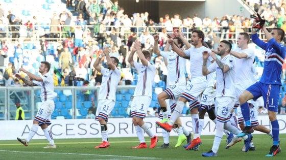 Sassuolo-Sampdoria 3-5: neroverdi in clima vacanza, dominano i blucerchiati