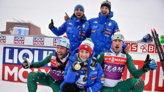 Calendario Biathlon.Biathlon Mondiali Storica Italia Doppio Oro Nella Mass