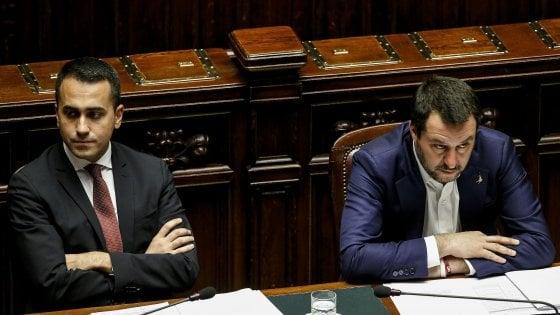 Luigi Di Maio e Matteo Salvini durante un question time alla Camera