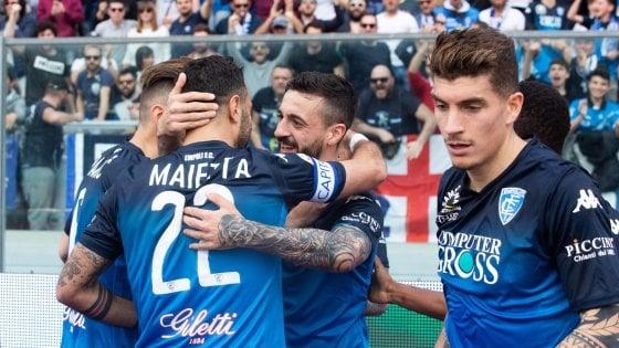 Empoli-Frosinone 2-1: scontro salvezza ai toscani, decidono Caputo e Pajac
