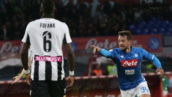 Napoli-Udinese 4-2, Younes e Mertens trascinano gli azzurri