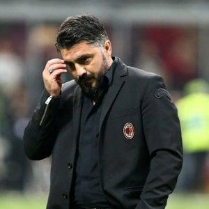 """Milan, Gattuso: """"Troppo passivi ma ho fiducia in questa squadra"""". Kessié e Biglia: """"Chiediamo scusa"""""""