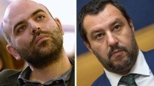 """Roberto Saviano: """"Io a processo mentre il ministro Salvini scappa"""""""