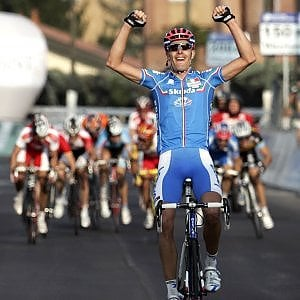 Alessandro Ballan vince i mondiali di ciclismo 2008 a Varese