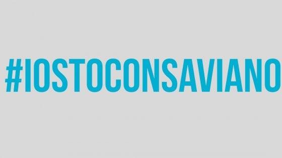 #iostoconSaviano, il grido social per la libertà di espressione