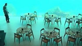 Il ristorante è subacqueo: a tavola tra i pesci del Mare del Nord