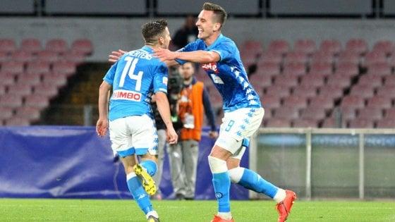 """Napoli, il club chiarisce: """"Milik stima Mertens, ma non lo ha proposto capitano"""""""