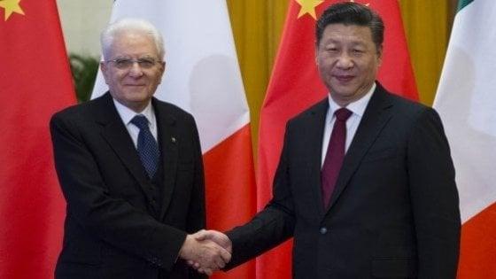 """Italia-Cina, Mattarella: """"Un'amicizia su solide fondamenta. Bene gli investimenti sostenibili"""""""