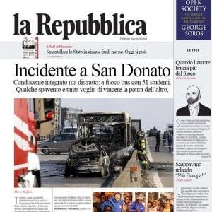 Incidente A San Donato Questa Prima Pagina Di Repubblica è Finta