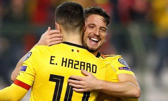 Qualificazioni Europei 2020: Piatek fa felice anche la Polonia. Super Hazard, il Belgio batte la Russia