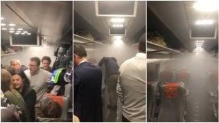 Sul Frecciarossa Milano-Roma  doccia imprevista per i passeggeri