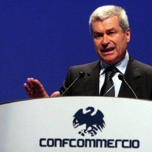 Carlo Sangalli, presidente della Confcommercio