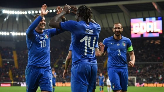 """Nazionale, Kean aspetta Balotelli. Mancini: ''Potrebbero giocare insieme"""""""