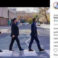 """Pirlo, Gattuso, Oddo e Ambrosini a Abbey Road: ''Sono tornati i Beatles"""""""