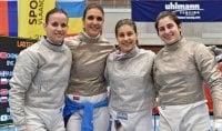 Sciabola e spada donne Italia tre volte sul podio