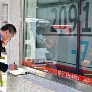 La paura di recessione abbatte Tokyo. La fiducia tedesca rimbalza, ma le Borse Ue chiudono deboli