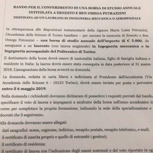 E l'Accademia delle scienze di Torino rinuncia alle borse di studio sovraniste